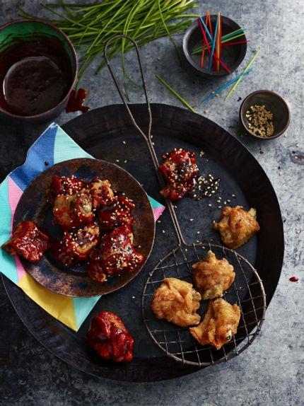Receta pollo Frito Coreano agridulce