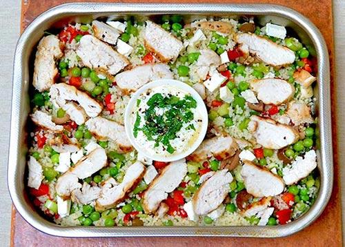Pollo Griego con Salsa Tzatziki