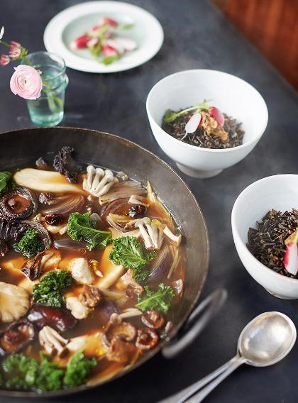 Receta de Sopa Miso con Setas y arroz integral