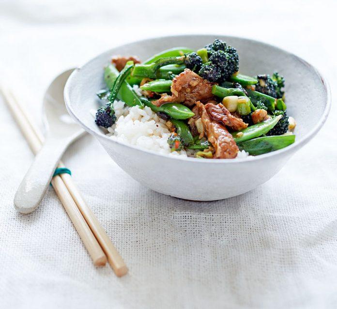Cerdo estilo Chino con verduras
