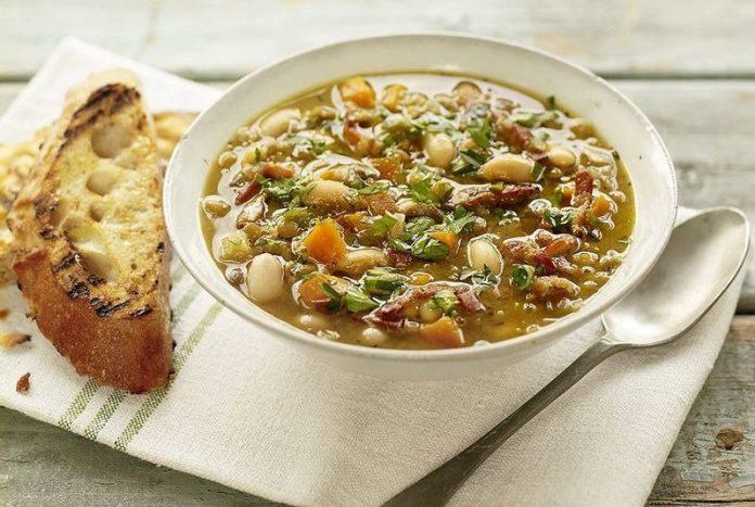 Receta Rápido y Fácil para preparar un Rica Sopa de Lentejas