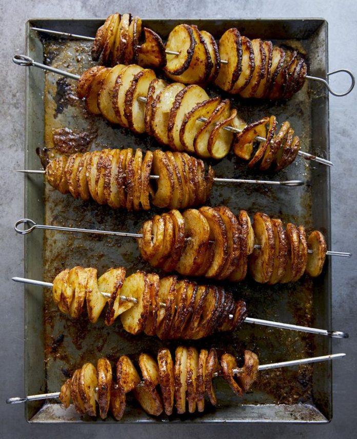 Patatas espirales al horno